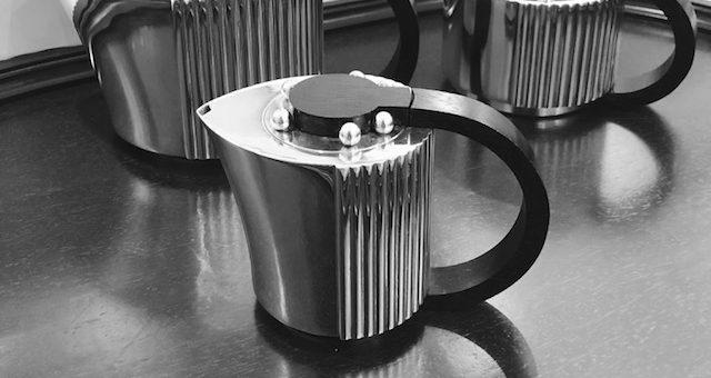 (Français) Service à thé-plateau-Puiforcat-art-déco-modèle Etchéa
